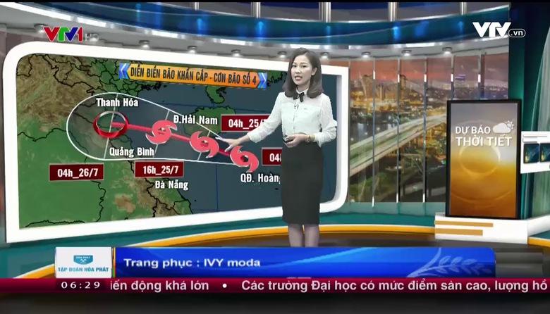 Bản tin thời tiết 6h30 - 24/7/2017