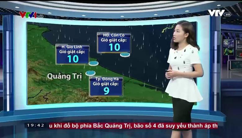 Bản tin thời tiết 19h45 - 25/7/2017