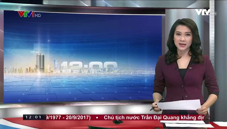 Thời sự 12h VTV1 - 20/9/2017