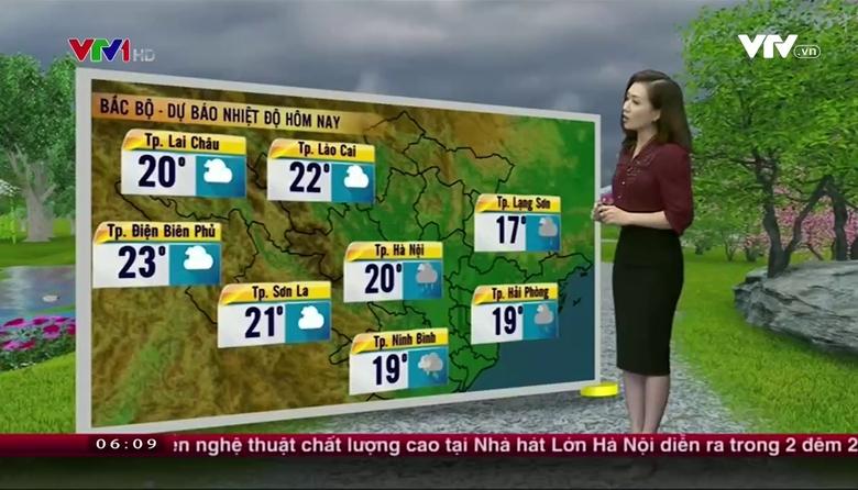 Bản tin thời tiết 6h10 - 26/3/2017