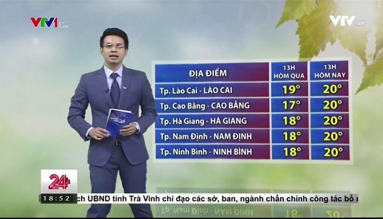Bản tin thời tiết 18h45 - 27/3/2017