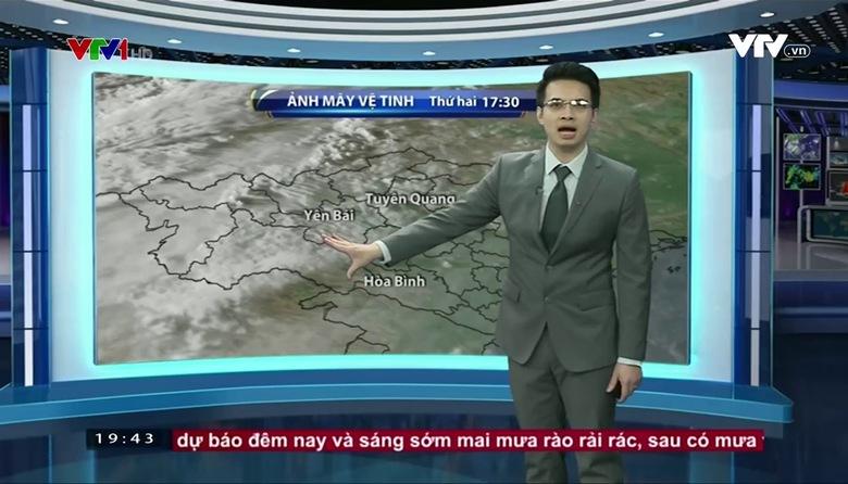 Bản tin thời tiết 19h45 - 27/3/2017