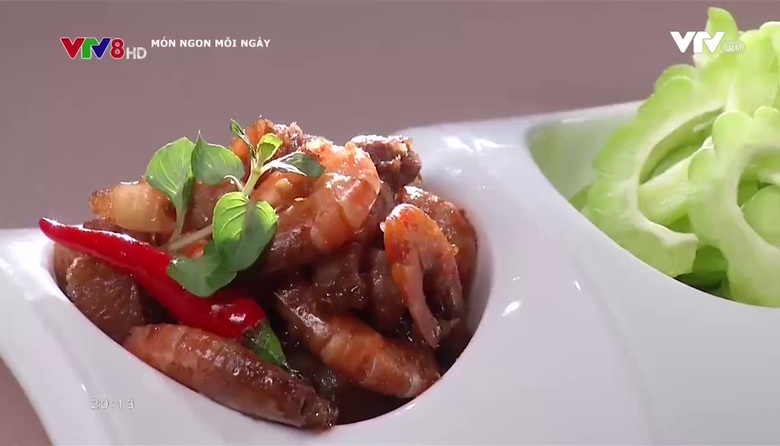 Món ngon mỗi ngày: Tôm thịt xào mắm ruốc