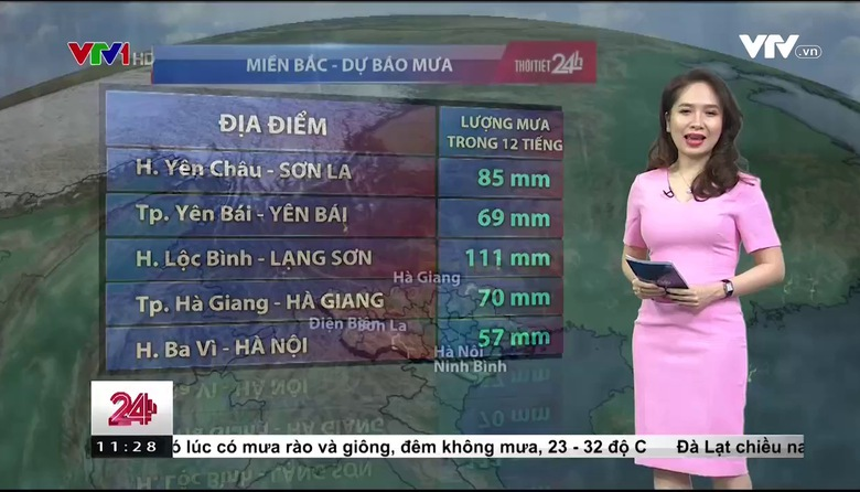 Bản tin thời tiết 11h30 - 24/5/2017