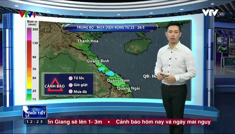 Bản tin thời tiết 12h30 - 25/5/2017