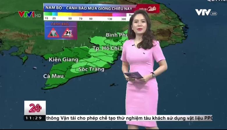 Bản tin thời tiết 11h30 - 28/5/2017