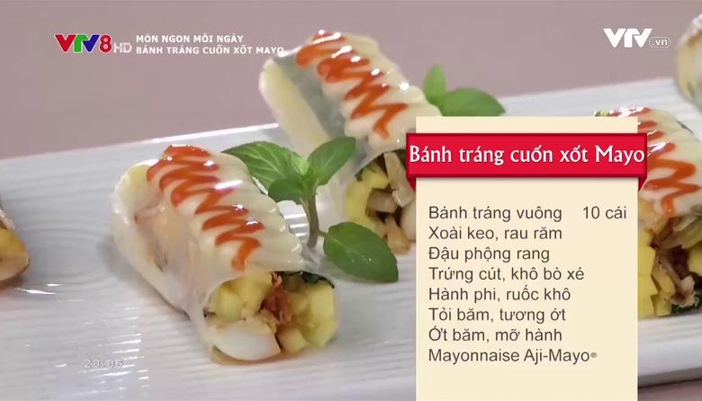 Món ngon mỗi ngày: Bánh tráng cuốn xốt mayo