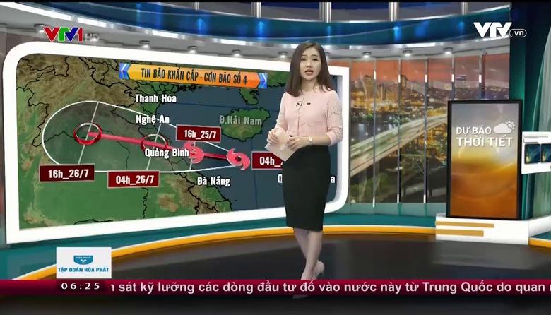 Bản tin thời tiết 6h30 - 25/7/2017