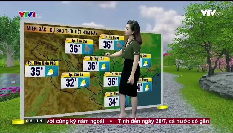 Bản tin thời tiết 6h10 - 29/7/2017