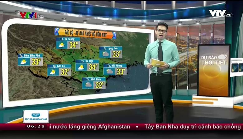 Bản tin thời tiết 6h30 - 20/8/2017