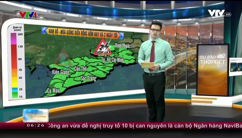 Bản tin thời tiết 6h30 - 21/9/2017