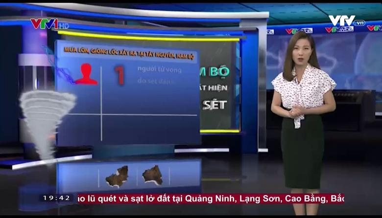Bản tin thời tiết 19h45 - 24/9/2017
