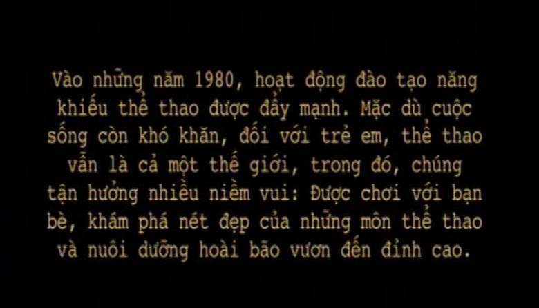 Ký ức Việt Nam: Đào tạo năng khiếu thể thao