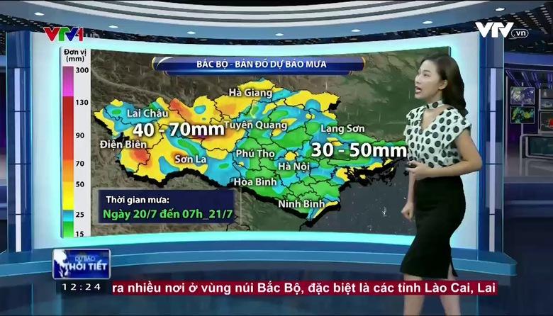 Bản tin thời tiết 12h30 - 20/7/2017
