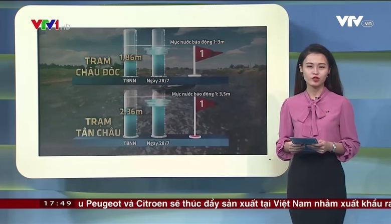 Bản tin thời tiết 18h - 29/7/2017