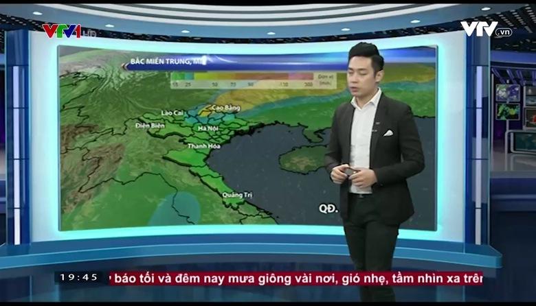 Bản tin thời tiết 19h45 - 21/3/2017