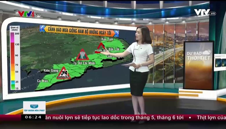 Bản tin thời tiết 6h30 - 24/4/2017
