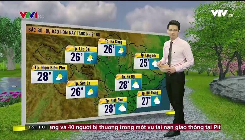 Bản tin thời tiết 6h10 - 25/4/2017