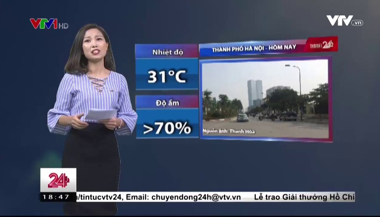 Bản tin thời tiết 18h45 - 26/4/2017