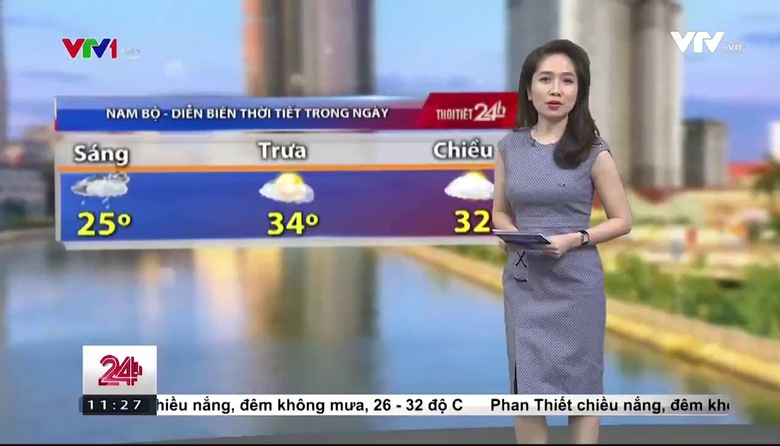 Bản tin thời tiết 11h30 - 29/4/2017