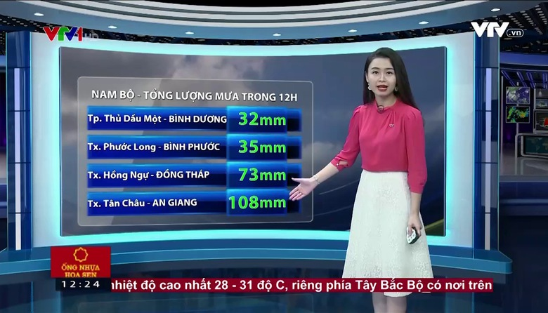 Bản tin thời tiết 12h30 - 29/4/2017