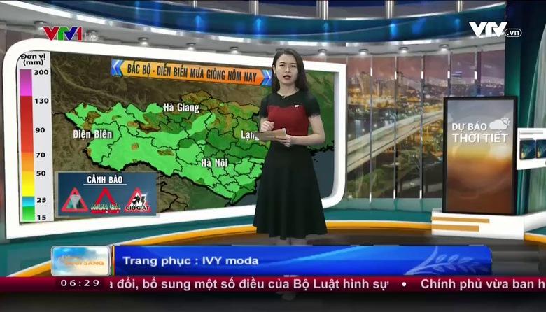 Bản tin thời tiết 6h30 - 24/5/2017