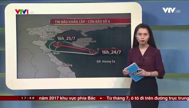 Bản tin thời tiết 18h - 24/7/2017