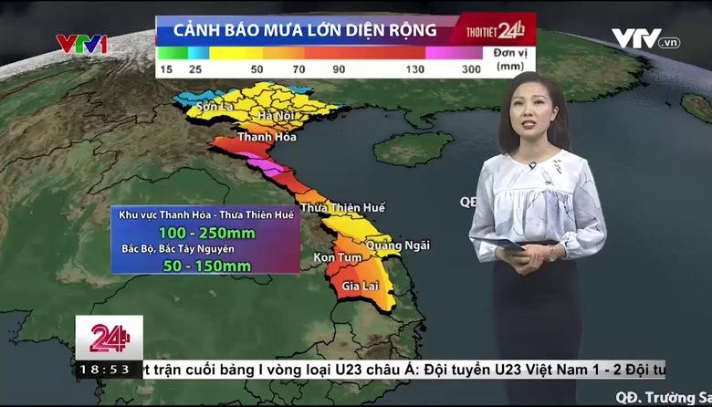Bản tin thời tiết 18h45 - 24/7/2017