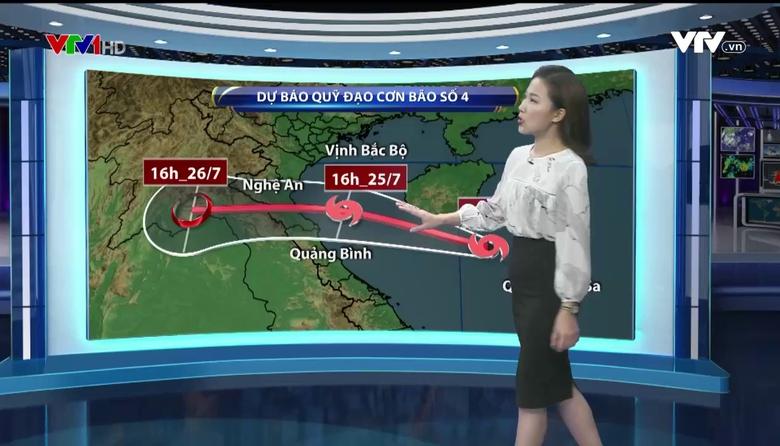 Bản tin thời tiết 19h45 - 24/7/2017