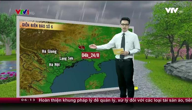 Bản tin thời tiết 6h10 - 24/8/2017