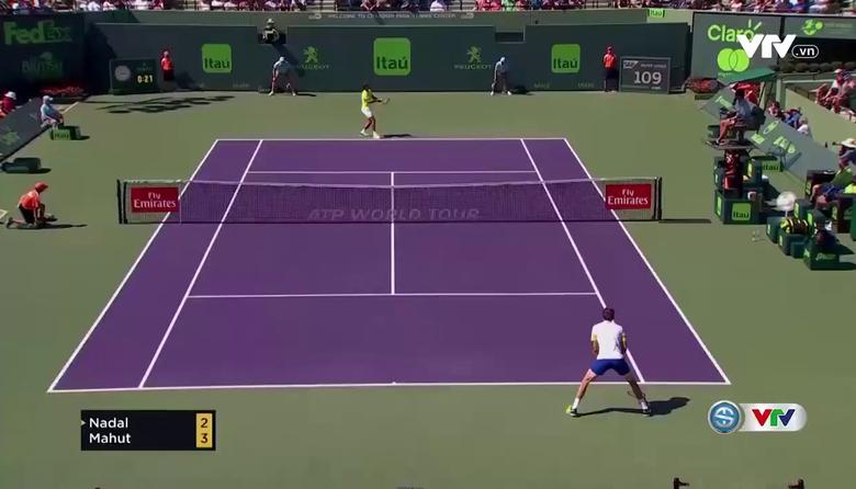 Vòng 4 Miami mở rộng 2017: Nadal 2-0 Mahut (6-4, 7-6)