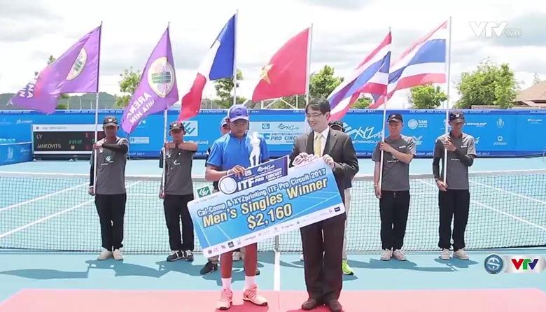 Chung kết đơn nam Thái Lan F3 Futures: Lý Hoàng Nam 2-1 Yannick Jankovits (2/6, 7/6, 6/4)