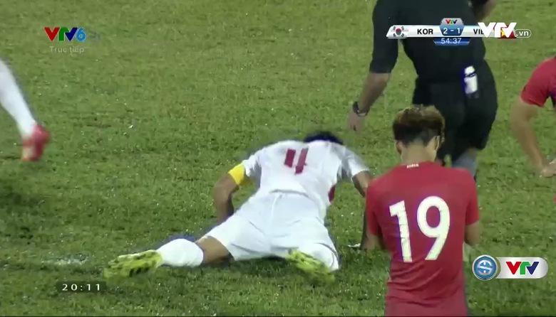 Phút 55: Pha tấn công nguy hiểm của U23 Hàn Quốc