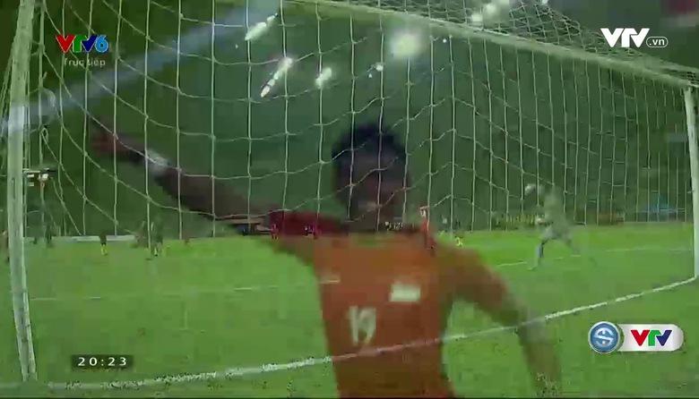 Phút 37: Amiruldin mở tỷ số trận đấu (U22 Malaysia 0-1 U22 Singapore)
