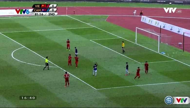 Phút 82: Nen Sotheearoth ghi bàn từ chấm 11m (U22 Việt Nam 4-1 U22 Campuchia)