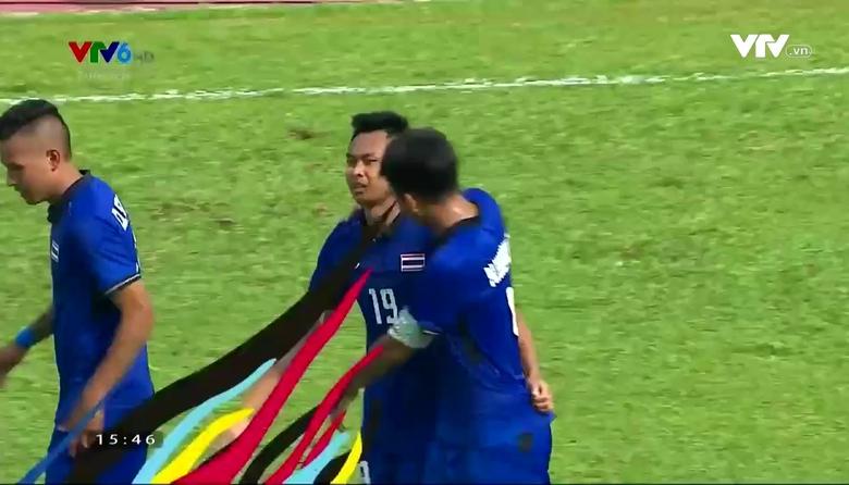Phút 45+2: Sittichok nhân đôi cách biệt cho U22 Thái Lan