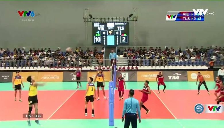 Bóng chuyền nam: ĐT Việt Nam 3-0 ĐT Timor Leste