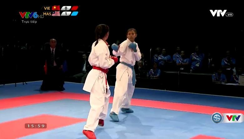 Karatedo: Trang Cẩm Lành giành HCB  Kumite dưới 55 kg nữ