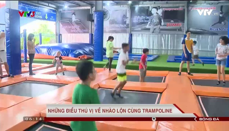 Những điều thú vị về nhào lộn cùng trampoline