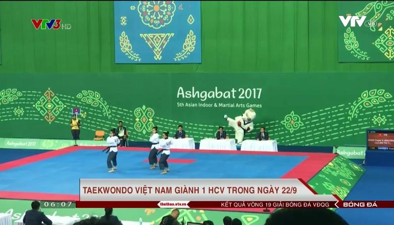 Taekwondo Việt Nam có HCV đầu tiên tại Đại hội thể thao trong nhà và Võ thuật châu Á 2017