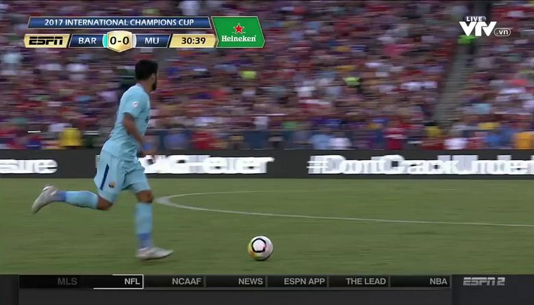 Barcelona 1-0 Man Utd: Bàn thắng của Neymar ở phút 31